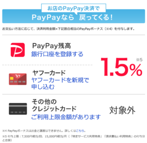 paypay yahoo japanカード