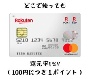楽天カード還元率