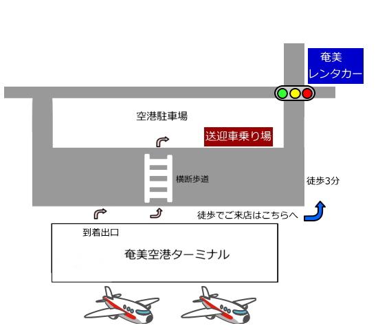 奄美空港レンタカーの送迎サービス