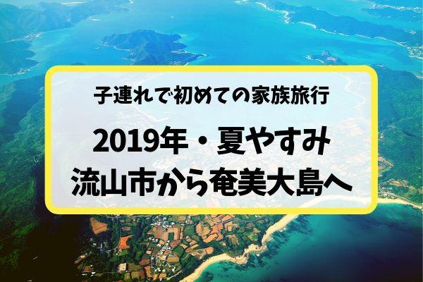 3歳&1歳の子連れ家族旅行〜2019年夏休み奄美大島旅行